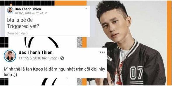Nghiệp quật là có thật: Rapper B Ray bị khóa Facebook sau ồn ào thách thức, xúc phạm BTS và fan Kpop-1
