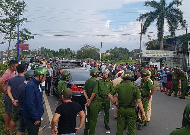 Bắt người huy động giang hồ bao vây xe công an ở Đồng Nai-1