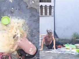 Nam thanh niên đổ cả thau trứng sống lên đầu mẹ để ăn mừng kênh Youtube đạt 20K người theo dõi