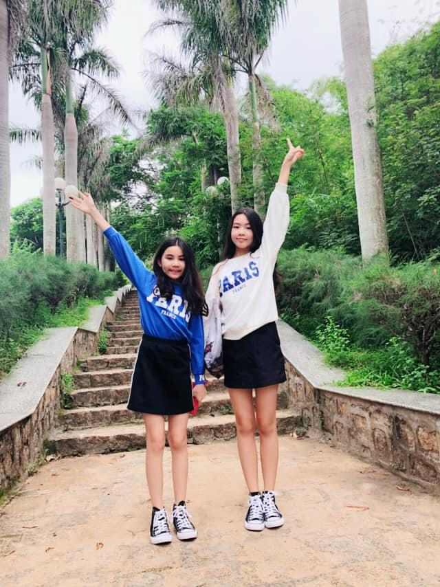Cao như Hoa hậu, hai con gái của Quyền Linh còn có gout ăn mặc đồng điệu-9