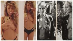 Cựu siêu mẫu Heidi Klum bị chỉ trích vì đăng ảnh ngực trần