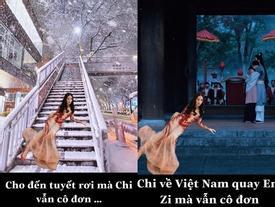 Có tâm như fan Chi Pu: Biết idol không có thời gian du lịch liền giúp chị nhà có ảnh sống ảo chất hơn nước cất