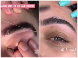 Phương pháp tỉa lông mày đỉnh cao nhất mọi thời đại: Không cần dao cạo, chỉ cần 2 sợi chỉ
