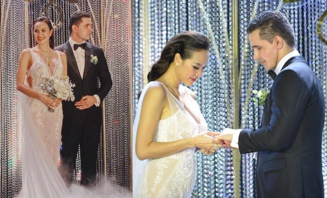 Siêu mẫu Phương Mai bất ngờ lộ vòng 2 lùm lùm như có bầu 4, 5 tháng trong đám cưới-4