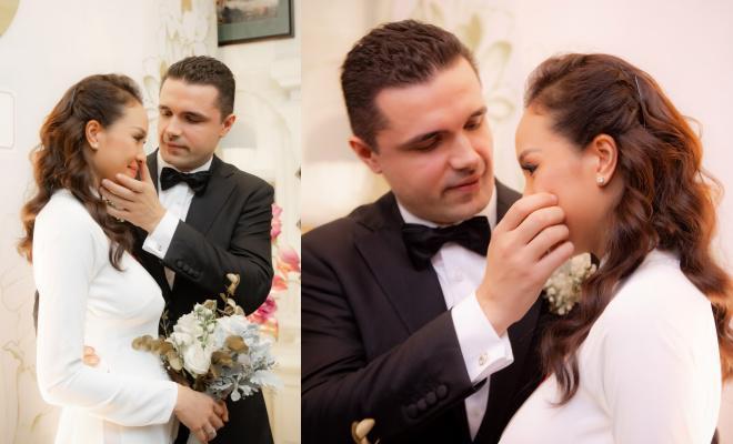 Siêu mẫu Phương Mai bất ngờ lộ vòng 2 lùm lùm như có bầu 4, 5 tháng trong đám cưới-7