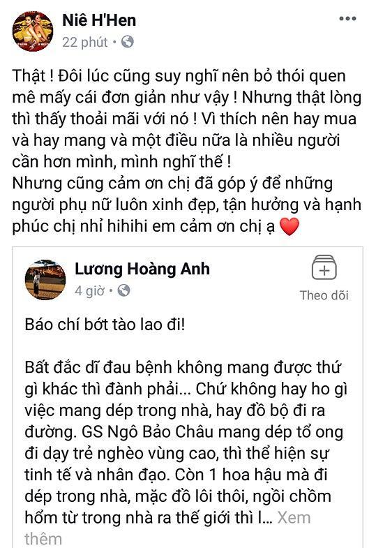 HHen Niê đáp trả khi vợ cũ diễn viên Huy Khánh chê quê mùa, thiếu văn minh vì đi dép tổ ong-2