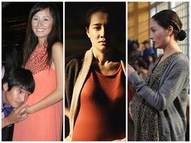 Bí mật sau bụng bầu trên phim của các người đẹp Việt