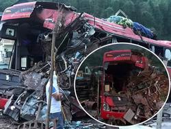Tai nạn kinh hoàng: Xe tải chở sắt vụn đối đầu xe khách ở Hòa Bình, 40 người thương vong