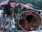 Clip: Khoảnh khắc xe tải chở sắt vụn đâm vào xe khách nổ kinh hoàng như bom ở Hòa Bình-1