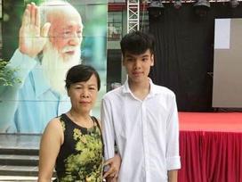 Con của nữ lao công bị xe đâm tử vong đỗ lớp 10 trường Lương Thế Vinh