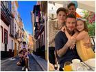 David Beckham vui vẻ du lịch cùng ba con, lơ con cả vì không nghe lời