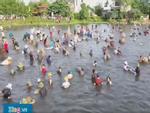 Hàng trăm người đổ về Nghệ An tham gia lễ hội đánh bắt cá truyền thống