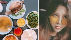 Vợ vlogger Huy Cung khiến chị em 'choáng' vì những mâm cơm nấu cho chồng