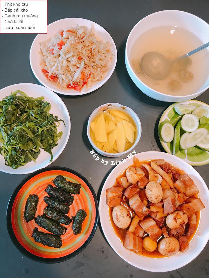 Vợ vlogger Huy Cung khiến chị em choáng vì những mâm cơm nấu cho chồng-11