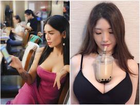 BB Trần khoe vòng 1 'siêu to khổng lồ' khiến fan kêu réo thử sức với trào lưu dùng ngực đỡ trà sữa