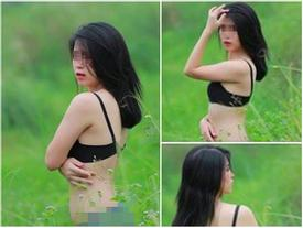 Cô gái khỏa thân ở đầm sen lại bị chỉ trích vì ảnh mặc nội y phản cảm ở đồng cỏ