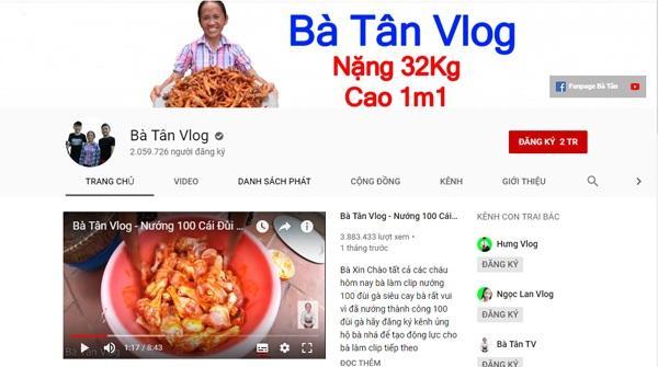 Youtube vừa bật chức năng kiếm tiền, bà Tân Vlog hé lộ số thu nhập khiến ai nghe xong cũng giật mình-1