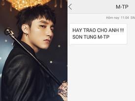 Sơn Tùng MTP nhắn tin rủ rê fan 'Hãy trao cho anh': Thính comeback chuẩn xác đến 99,99% rồi các Sky ơi!