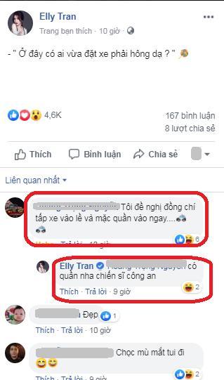 Đứng hình vì Elly Trần mặc nội y khoét cao bị fan đề nghị mặc quần vào-3