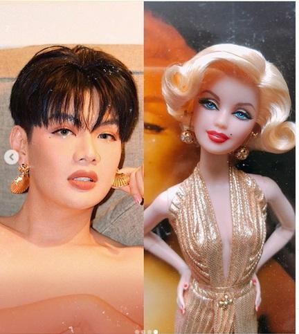 Đào Bá Lộc trổ tài make up giống ngôi sao Marilyn Monroe - Nam Em tái xuất lần đầu sau nghi vấn nhấn mí-5