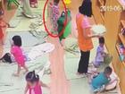 Hé lộ clip cô giáo bị camera an ninh 'bóc phốt' cảnh tát bé 3 tuổi ngã sấp mặt, tụ máu môi