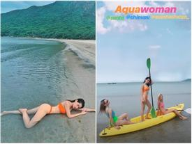 Hóa ra đằng sau hình ảnh mặc bikini 'nóng rẫy' của Chi Pu, Quỳnh Anh Shyn và Sunht là khoảnh khắc lầy lội thế này đây!