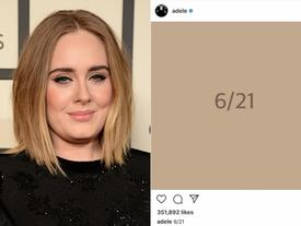 Hành động 'đáng ngờ', Adele khiến fan rần rần về sản phẩm 'đánh úp' ngày 21/6 hay chỉ là một cú lừa từ cô nàng?