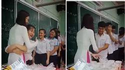 Clip: Cô giáo 'trường người ta', tự tay mua trà sữa, khích lệ tinh thần sĩ tử trước ngày 'vượt vũ môn'