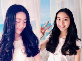 Đẹp chuẩn hotgirl chưa là gì, con gái MC Quyền Linh còn tự tay làm tóc đẹp không kém ngoài tiệm