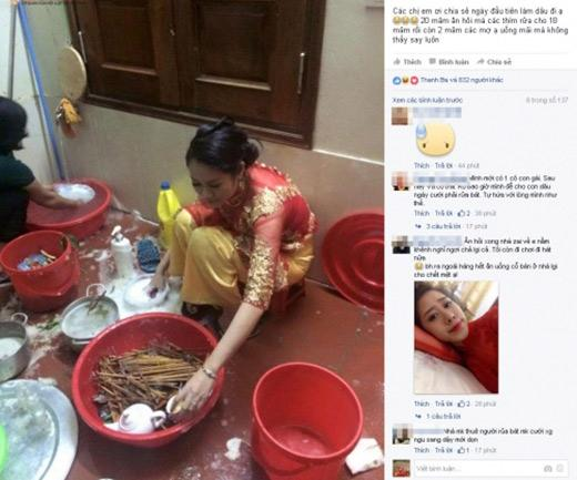 Đám cưới, cô dâu cùng hội bạn thân rửa trăm mâm bát khiến dân mạng xôn xao-4