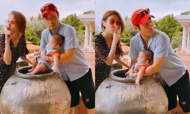 Hoa hậu Hong Kong đón sinh nhật bên tài tử TVB và con trai-1