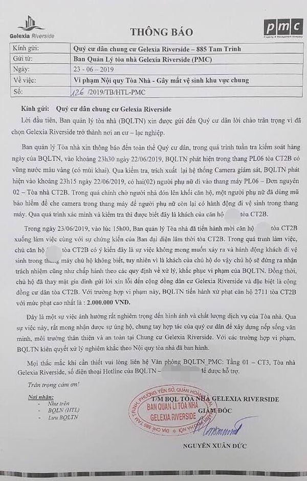 Vụ 2 người phụ nữ đi tè trong thang máy ở Hà Nội: Chủ hộ cũng bất ngờ về hành động vô ý thức này và phải nộp phạt thay-3