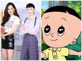 Tượng sáp mới của Dương Mịch gây bão vì kiểu tóc y chang hình ảnh nhân vật hoạt hình 'Bố đầu nhỏ, con đầu to'
