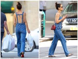 Giữa tin đồn chồng cũ Tom Cruise không phải bố Suri, Katie Holmes mặc quần yếm 'quên' áo