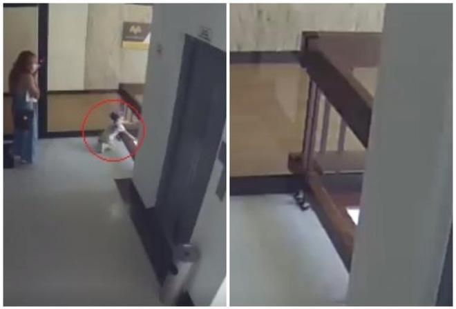 Clip: Mẹ mải xem điện thoại, con gái lao ra lan can tầng 4 và màn giải cứu thót tim-5