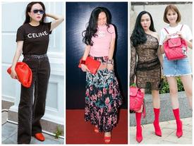 Mua hàng lố phụ kiện hàng hiệu màu đỏ chót nhưng cách phối của Phượng Chanel thì lỗi 'vô phương cứu chữa'