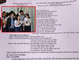Sốc: Một nam sinh Phú Thọ làm lộ đề thi Ngữ Văn từ sớm