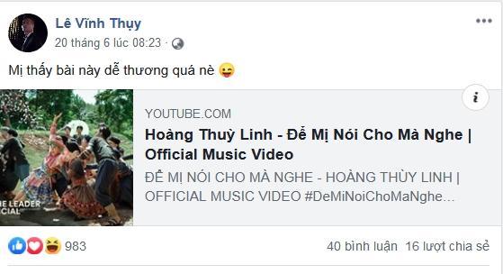 Vĩnh Thụy than phí duyên trời, fan cầu xin: Anh quay về với Hoàng Thùy Linh đi-4