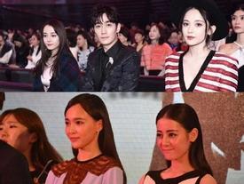 Địch Lệ Nhiệt Ba luôn thất thế khi đọ sắc cùng những nữ diễn viên khác đứng chung một khung hình