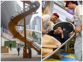 Máng trượt cho người lười đi bộ ở Trung Quốc