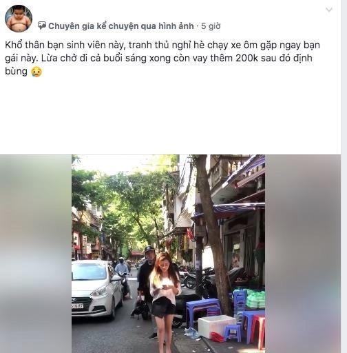 Cô gái gặp rắc rối vì bị hiểu nhầm quỵt 200.000 đồng tiền xe ôm-1
