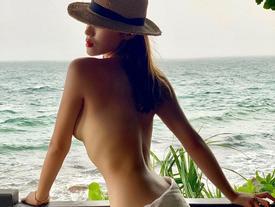 Hoa hậu Kỳ Duyên gây tranh cãi nảy lửa với bức ảnh khoe thân táo bạo nhất từ trước tới nay