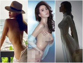 Dàn hậu bạo dạn chụp nude: Kỳ Duyên khiến fan 'truyền thái y', Ngọc Trinh bạo liệt nhất, Mai Phương Thúy mặc cũng như không