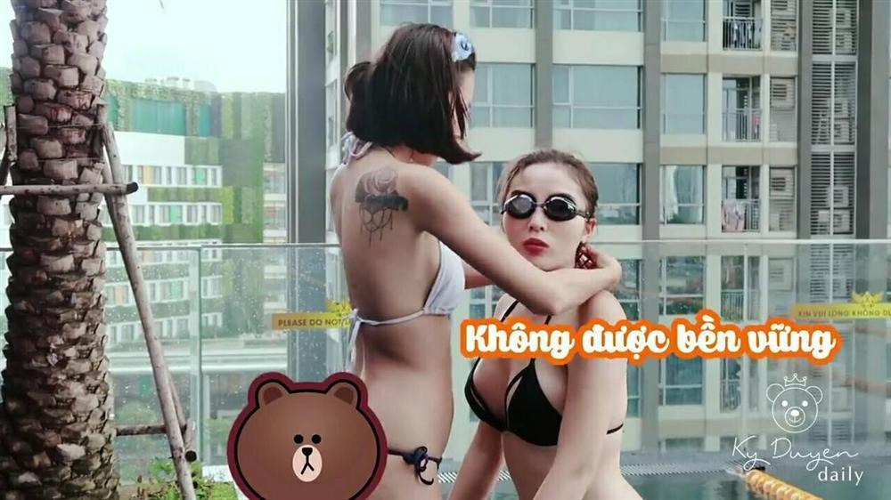 Ảnh nude chưa kịp nguội, Kỳ Duyên lại lộ khoảnh khắc liên tiếp ôm ấp Minh Triệu trong hồ bơi-2