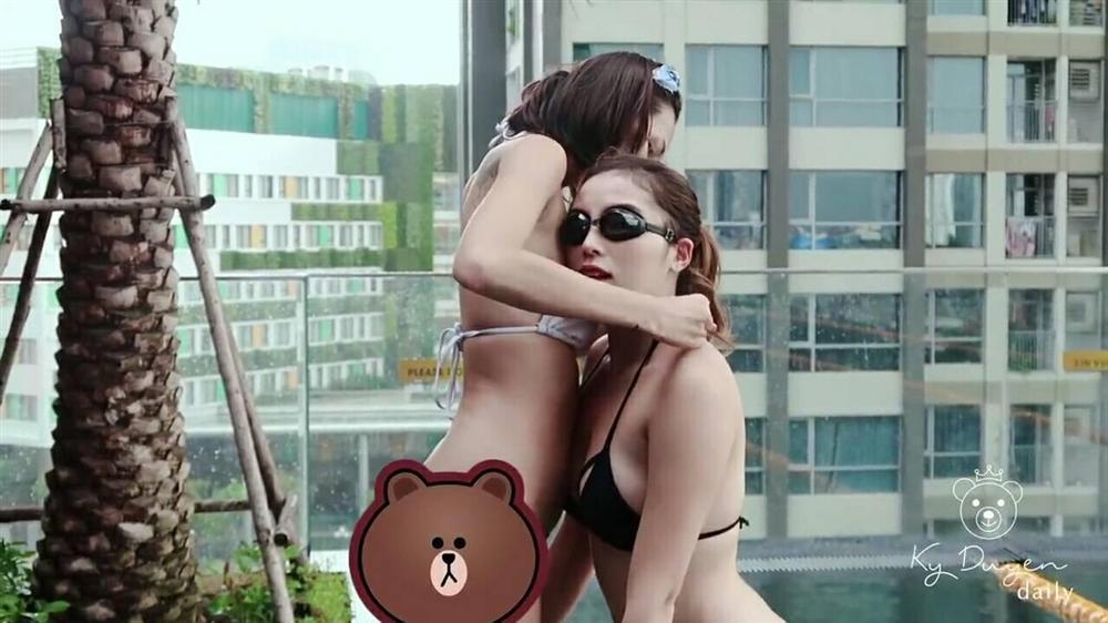 Ảnh nude chưa kịp nguội, Kỳ Duyên lại lộ khoảnh khắc liên tiếp ôm ấp Minh Triệu trong hồ bơi-3