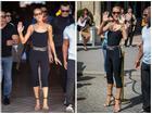Celine Dion nổi cả mảng gân ở cổ và tay khi được người tình tin đồn hộ tống trên phố