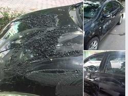 Chỉ vì không gửi xe vào bãi, 2 chiếc ô tô ở Hà Nội bị tạt axit, cào xước như ma trận