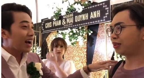 Mặt dày như thánh chửi Minh Dự: Làm loạn trong đám cưới Cris Phan - Mai Quỳnh Anh lại còn đòi chia chồng với cô dâu-1