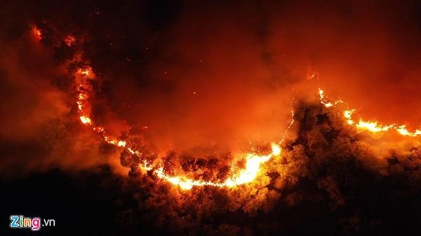 EVN: Cháy rừng ở miền Trung không làm ảnh hưởng đến đường dây 500 kV-1