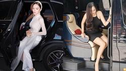 Mai Phương Thúy bước xuống xe cũng thần thái ngời ngời nhưng đến Hương Giang thì khiến fan 'thả tim' không ngớt